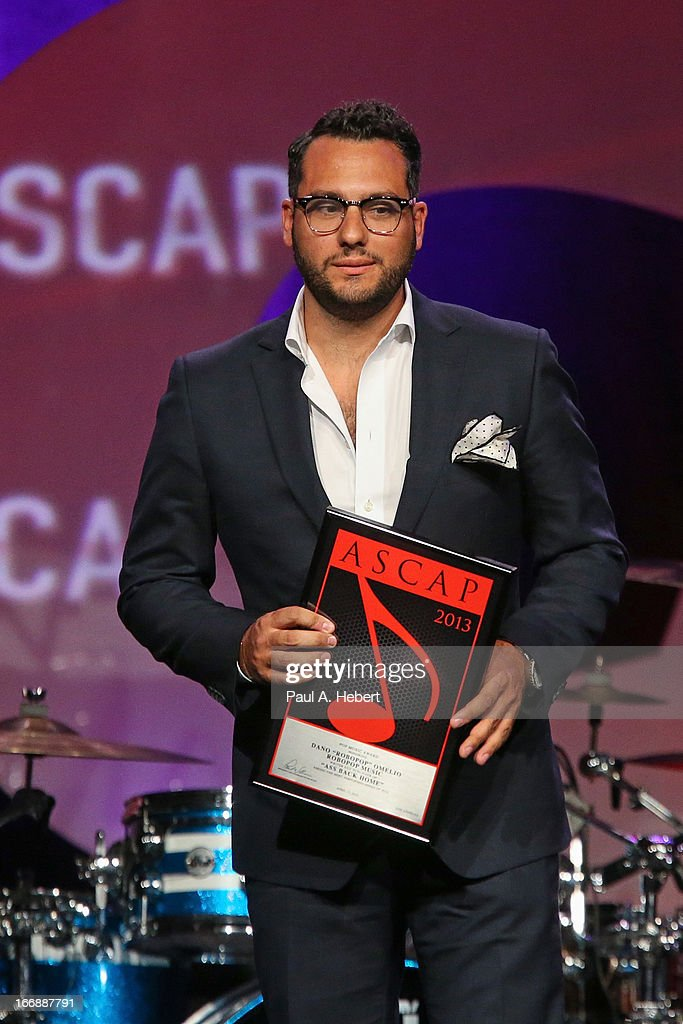 Dano 'Robopop' Omelio receives an award on stage during the 30th Annual ASCAP Pop Music Awards at Loews Hollywood Hotel on April 17, 2013 in Hollywood, California.