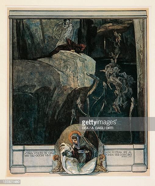 Dante Alighieri Divina Commedia 13041321 Inferno Canto XXIV Illustration by Franz von Bayros Vienna 1921