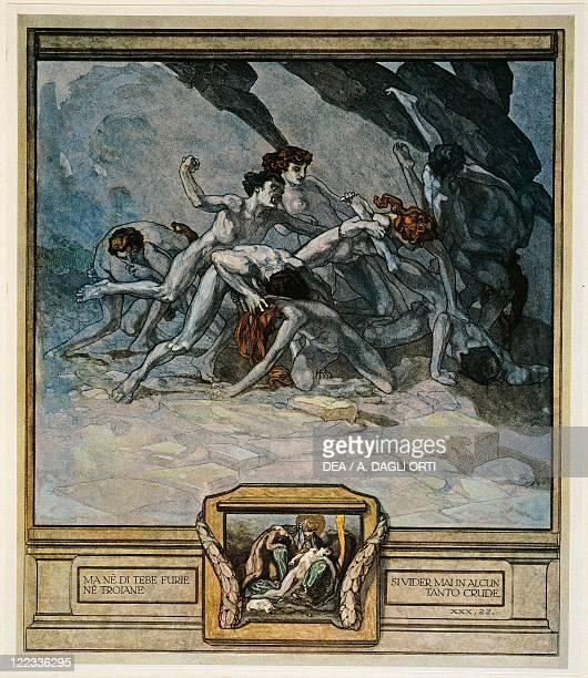 Dante Alighieri Divina Commedia 13041321 Inferno Canto XXX Illustration by Franz von Bayros Vienna 1921