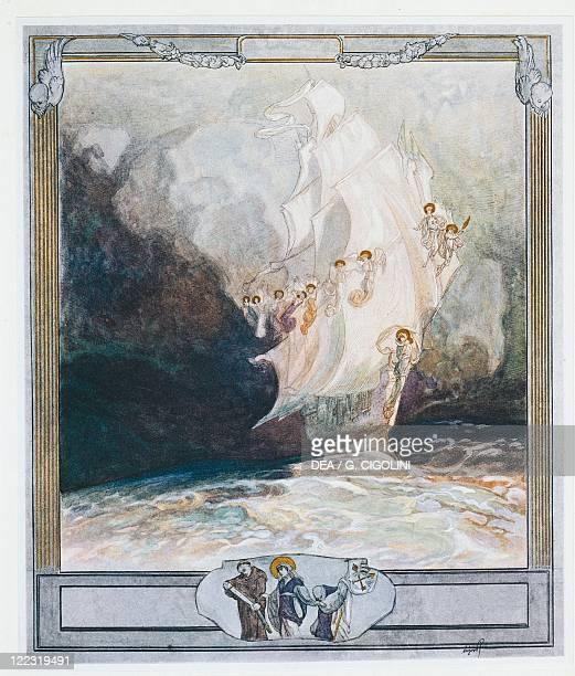 Dante Alighieri Divina Commedia 13041321 Purgatorio Canto XXVII Illustration by Franz von Bayros Vienna 1921