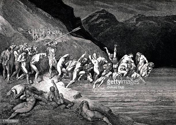 Dante Alighieri La Divina Commedia L'Inferno Canto III illustration by Gustave Doré for lines 107108 'E'en in like manner Adam's evil brood/ Cast...