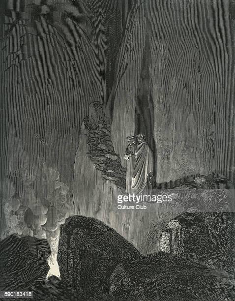 Dante Alighieri La Divina Commedia L'Inferno Canto XXVI illustration by Gustave DorŽ for lines 4649 'The guide who mark'd / How I did gaze attentive...