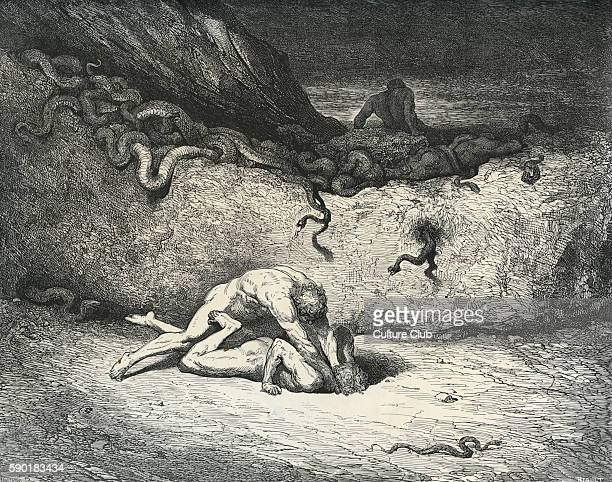Dante Alighieri La Divina Commedia L'Inferno Canto XXX illustration by Gustave DorŽ for lines 3334 'That sprite of air is Schicchi in like mood / Of...