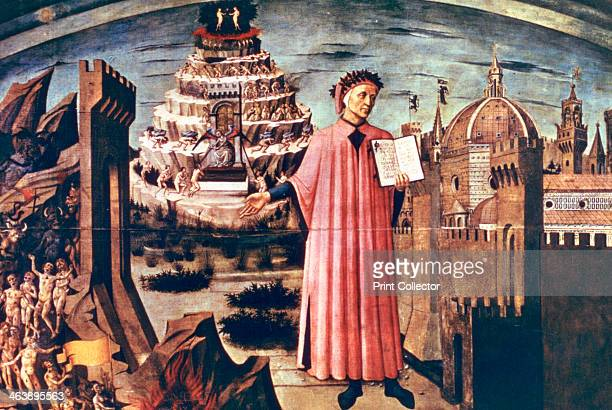 Dante and his Poem the 'Divine Comedy' 1465 Found in the collection of the Duomo Florence Italy