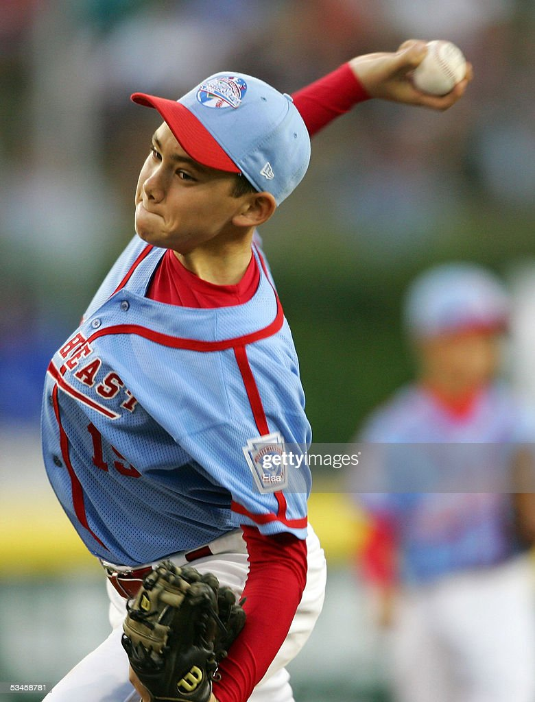 Dante Bichette Jr. #19 of the Southeast delivers a pitch against the West during the United States Semifinal of the Little League World Series on August 24, 2005 at Lamade Stadium in South Williamsport, Pennsylvania. The West team from Vista, California defeated the Southeast team from Maitland, Florida 6-2.