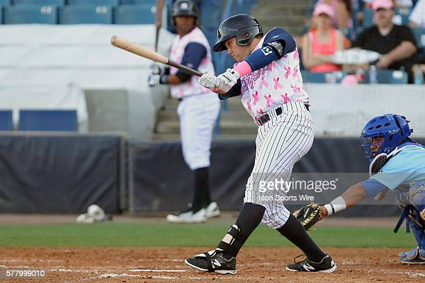 Dante Bichette Jr of the Yankees at bat during the Florida State League game between the Daytona Cubs and the Tampa Yankees at George M Steinbrenner...