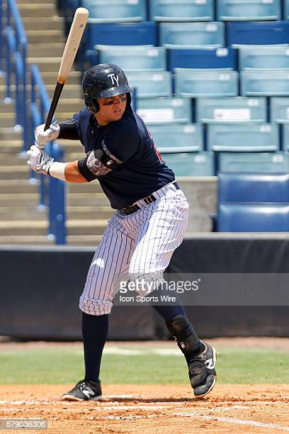 Dante Bichette Jr of the Yankees during the Florida State League game between the Ft Myers Miracle and the Tampa Yankees at George M Steinbrenner...
