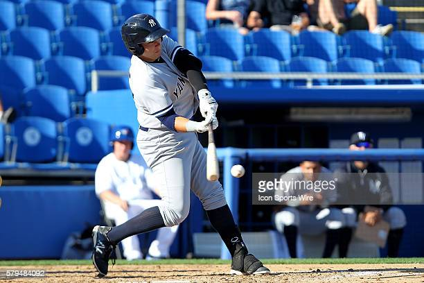 Dante Bichette Jr of the Yankees during the Florida State League game between the Tampa Yankees and the Dunedin Blue Jays at Florida Auto Exchange...