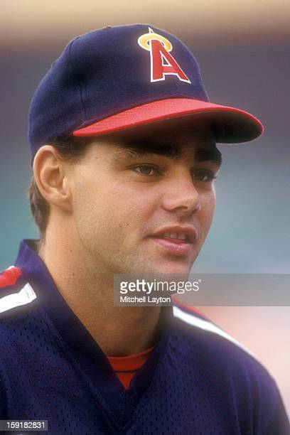Dante Bichette of the California Angles looks on before a baseball game against the Baltimore Orioles on September 9 1990 at Memorial Stadium in...