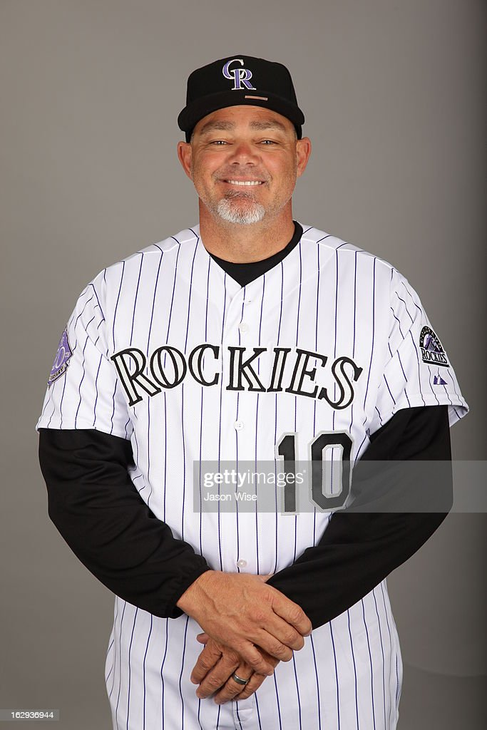 Dante Bichette #10 of the Colorado Rockies poses during Photo Day on Thursday, February 21, 2013 at Salt River Fields at Talking Stick in Scottsdale, Arizona.