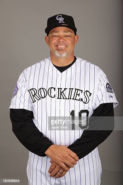 Dante Bichette of the Colorado Rockies poses during Photo Day on Thursday February 21 2013 at Salt River Fields at Talking Stick in Scottsdale Arizona