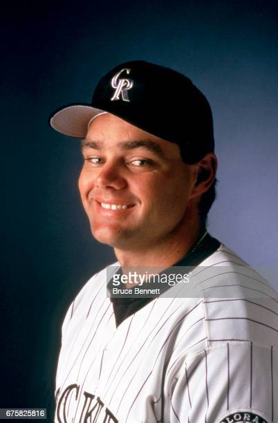 Dante Bichette of the Colorado Rockies poses for a portrait circa March 1995 in Scottsdale Arizona