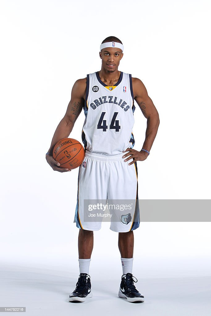 <a gi-track='captionPersonalityLinkClicked' href=/galleries/search?phrase=Dante+Cunningham&family=editorial&specificpeople=683729 ng-click='$event.stopPropagation()'>Dante Cunningham</a> #44 of the Memphis Grizzlies poses for a portrait on February 9, 2012 at FedExForum in Memphis, Tennessee.