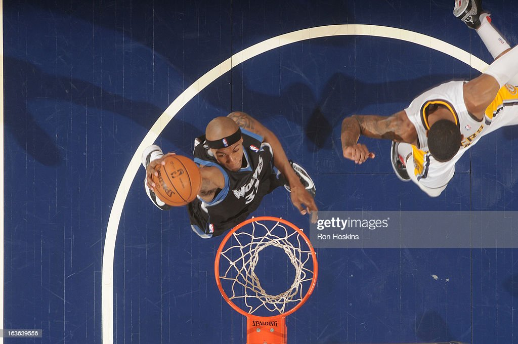 <a gi-track='captionPersonalityLinkClicked' href=/galleries/search?phrase=Dante+Cunningham&family=editorial&specificpeople=683729 ng-click='$event.stopPropagation()'>Dante Cunningham</a> #33 of the Minnesota Timberwolves during the game between the Indiana Pacers and the Minnesota Timberwolves on March 13, 2013 at Bankers Life Fieldhouse in Indianapolis, Indiana.