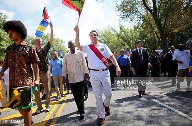 Dante de Blasio New York Mayor Bill de Blasio and New York Governor Andrew Cuomo march together in the annual West Indian Day parade held on...