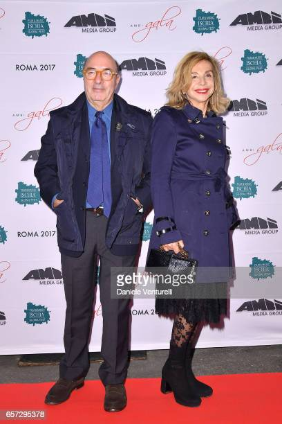 Dante Ferretti and Francesca Lo Schiavo attend AMBI GALA In Honour Of Andy Garcia And Bobby Moresco on March 23 2017 in Rome Italy