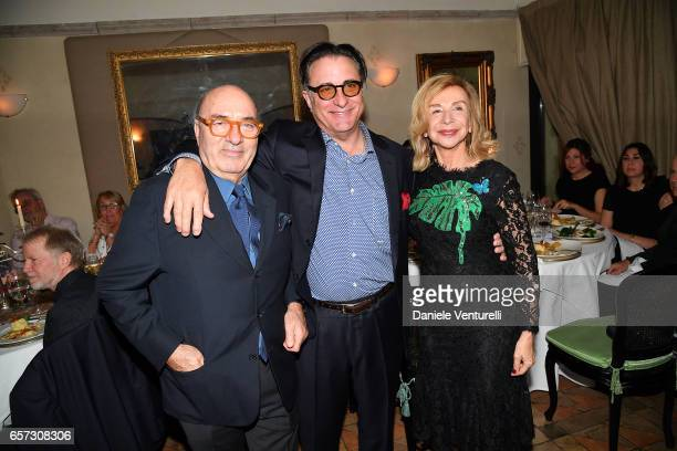 Dante Ferretti Andy Garcia and Francesca Lo Schiavo attend AMBI GALA In Honour Of Andy Garcia And Bobby Moresco on March 23 2017 in Rome Italy