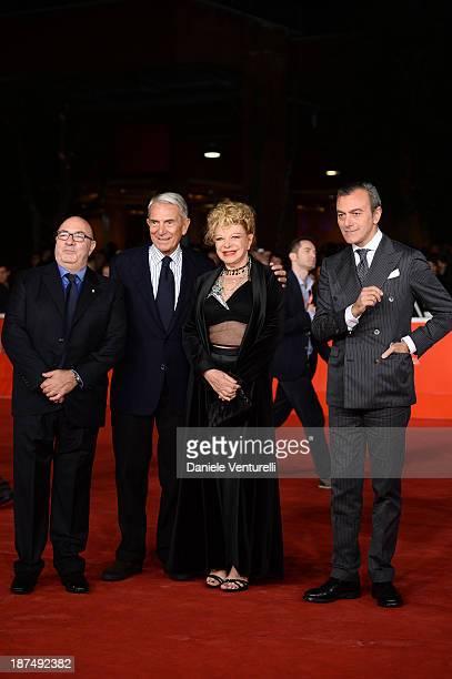 Dante Ferretti Carlo Rossella Sandra Milo and Antonello Sarno attend 'Dallas Buyers Club' Premiere during The 8th Rome Film Festival on November 9...