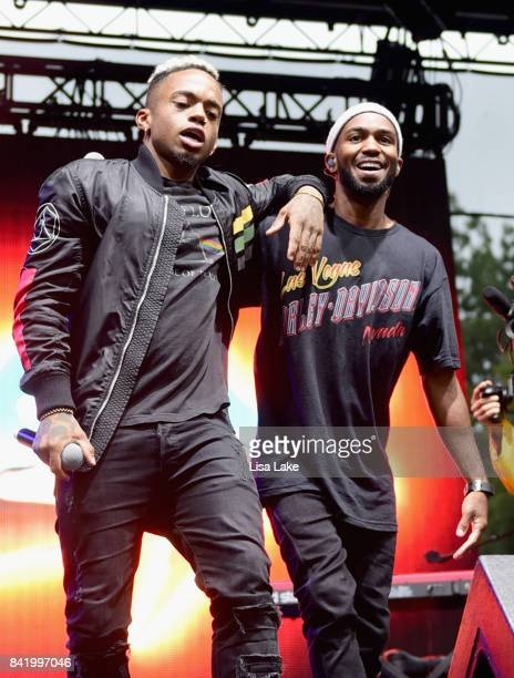 Dante Jones and Drew Love of THEY perform onstage during the 2017 Budweiser Made in America festival Day 1 at Benjamin Franklin Parkway on September...