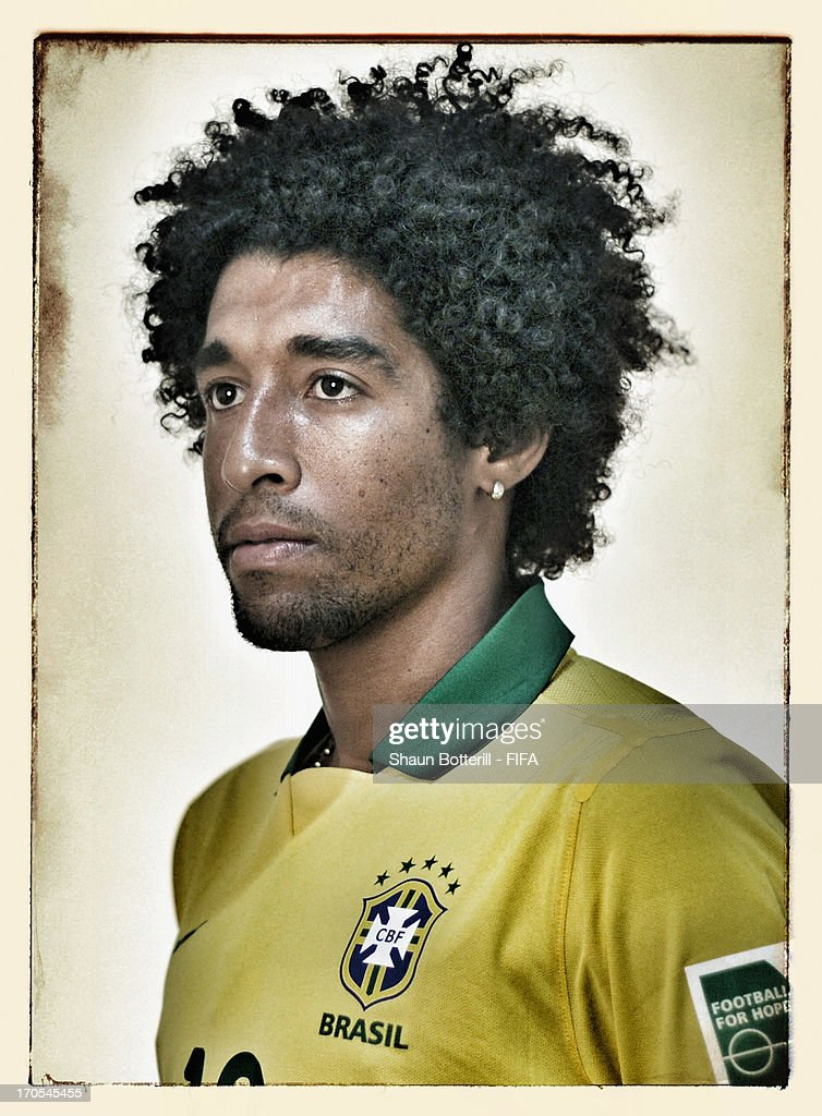 Dante of Brazil poses for a portrait at the Palace Hotel on June 12, 2013 in Brasilia, Brazil.