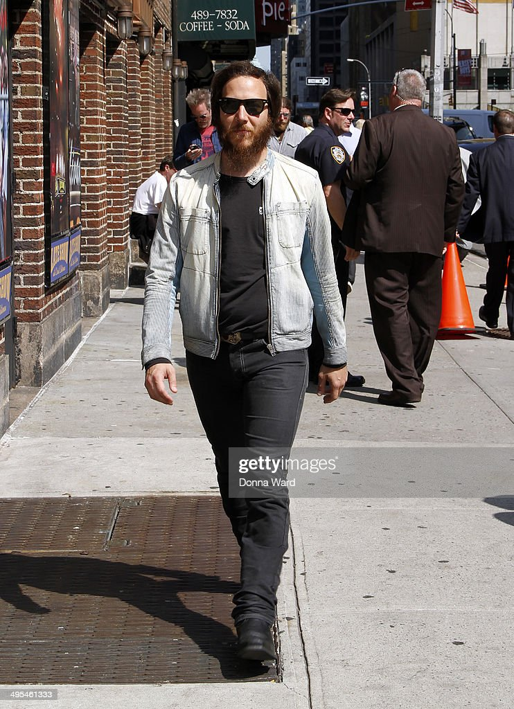 Dante Schwebel of Spanish Gold arrives for the 'Late Show with David Letterman' at Ed Sullivan Theater on June 3, 2014 in New York City.