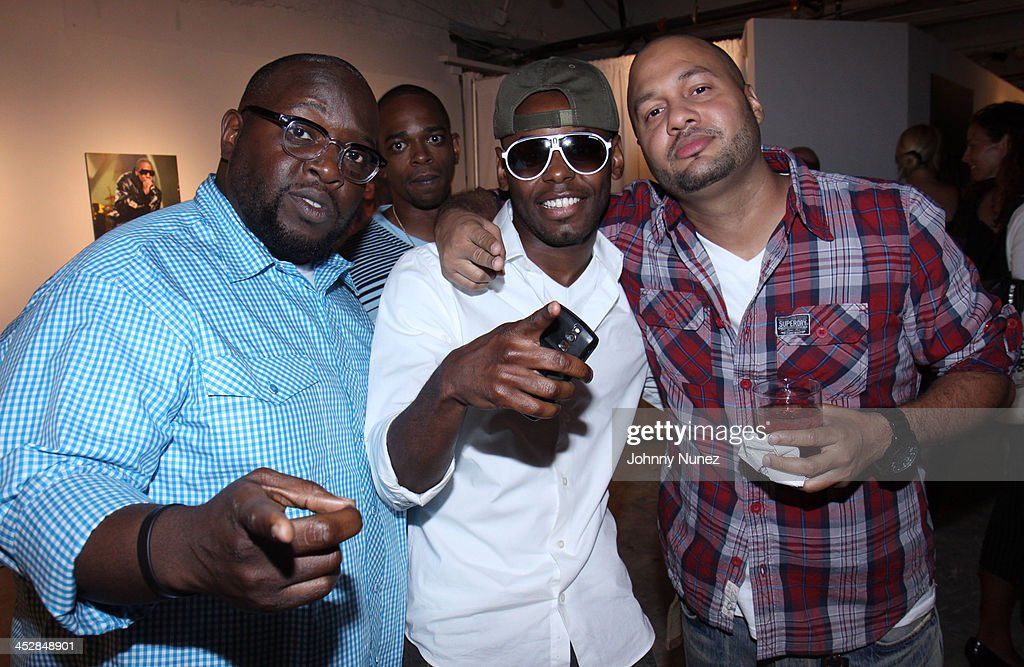 Dante Wilder, CT, Young Vaughn, and George Robles attend Rocawear's 10th Anniversary party at the Rocawear Showroom on August 10, 2009 in New York City.