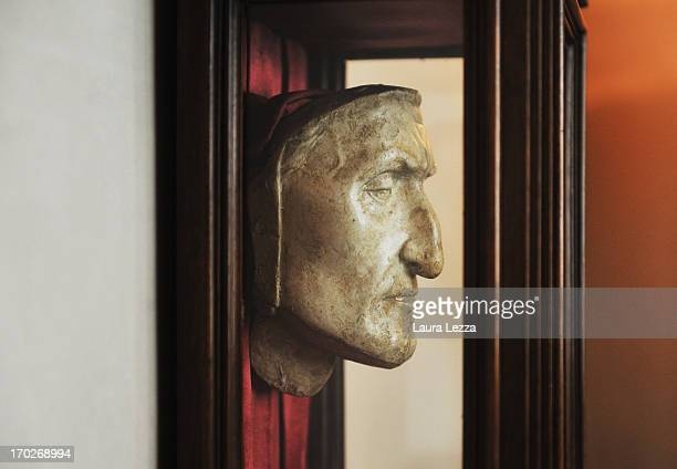 Dante's death mask is displayed at Palazzo Vecchio on June 8 2013 in Florence Italy The latest book by the American writer Dan Brown is set largely...