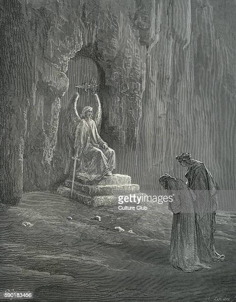Dante's purgatory part of his Divina Commedia / Divine Comedy Illustration by Gustave DorŽ Canto IX line 74 'In visage such as past my power to bear'...