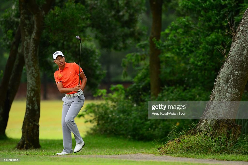 Danthai Boonma of Thailand pictured during the round 1 of the Yeangder Tournament Players Championship at Linkou International Golf Club on June 30, 2016 in Taipei, Taiwan.