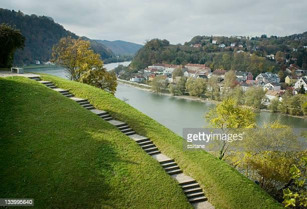 Donau in Linz, Österreich