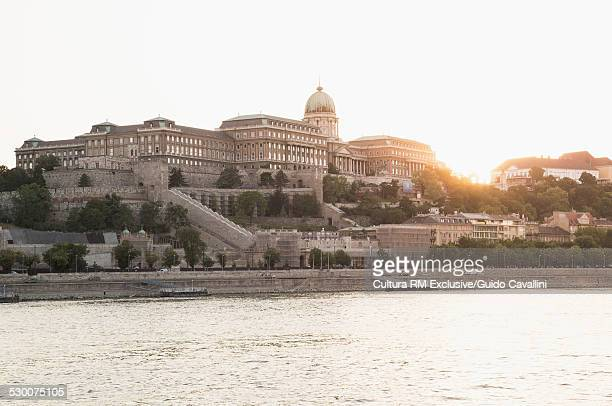 Danube River and Buda Castle, Budapest, Hungary