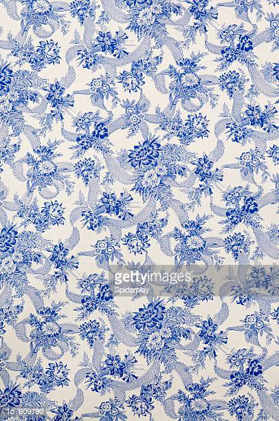 Danube Wide Antique Floral Fabric