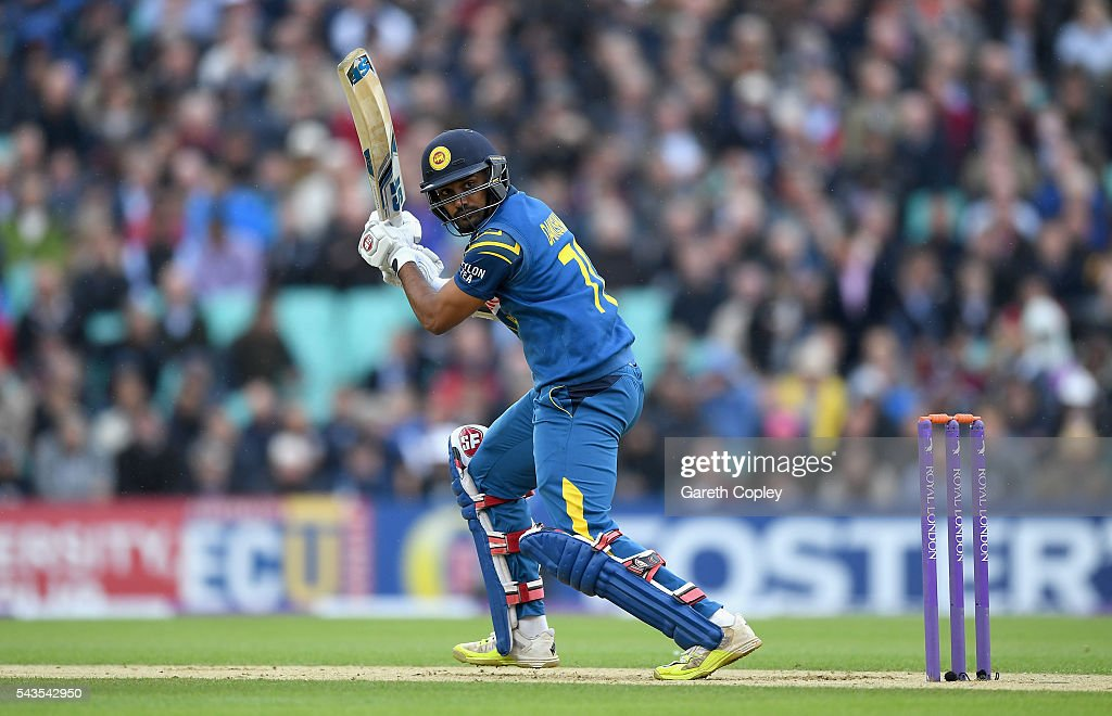 Danushka Gunathilaka of Sri Lanka bats during the 4th ODI Royal London One Day International match between England and Sri Lanka at The Kia Oval on June 29, 2016 in London, England.