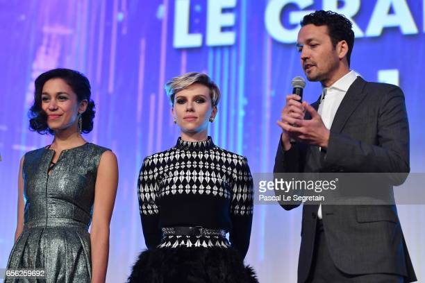 Danusia SamalScarlett Johansson and Rupert Sanders attend the Paris Premiere of the Paramount Pictures release 'Ghost In The Shell' at Le Grand Rex...