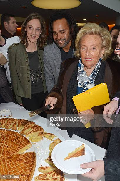Danuta Pieter from Fondation Des Hopitaux de Paris Christian Karembeu and Bernadette Chirac attend the 'Pieces Jaunes 2015' 26th Edition At CHI...