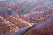 Colorful mountain in China ,Danxia Landform,Zhangye