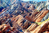 rainbow coloured mountains of Danxia Landform Geological park