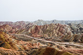 Danxia Rainbow Mountains, National Geopark of Zhangye, Gansu Province, ChinaDanxia Rainbow Mountains, National Geopark of Zhangye, Gansu Province, China