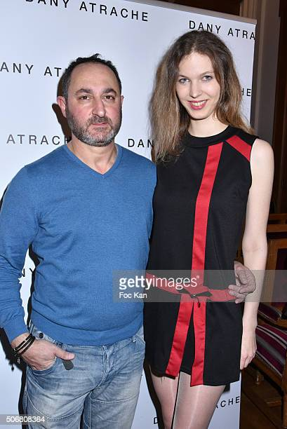 Dany Atrache and Melissa Mourer Ordener attend the Dany Atrache Spring Summer 2016 show as part of Paris Fashion Week on January 25 2016 in Paris...