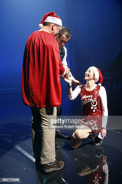 Dany Boon allows a proposal of Wedding on the stage during 'Dany De Boon des Hauts de France' Show at L'Olympia on January 01 2017 in Paris France