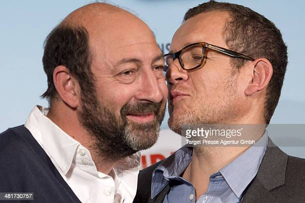 Dany Boon and Kad Merad attend the 'SuperHypochonder' photocall at Regent Hotel on March 31 2014 in Berlin Germany