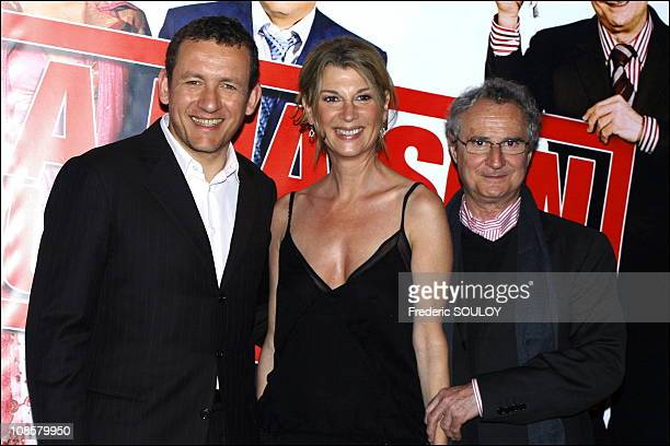 Dany Boon Michele Laroque and Daniel Prevost in ParisFrance on June 062006