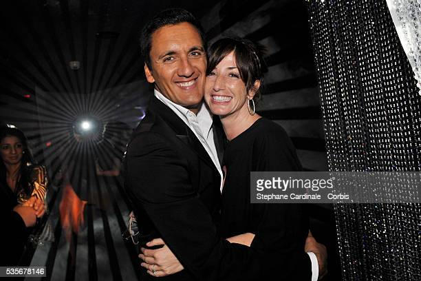 Dany Brillant and Albane Cleret attend a party at Jimmy'z during the 61st Cannes Film Festival
