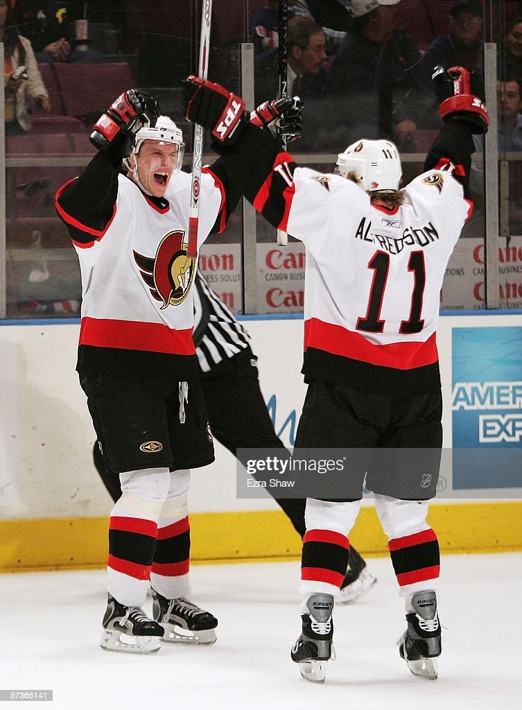 ... Jersey - NHL Black Reebok Third Mens Dany Heatley 15 is congratulated  by teammate Daniel Alfredsson 11 of the Ottawa Senators ... 975ea8083