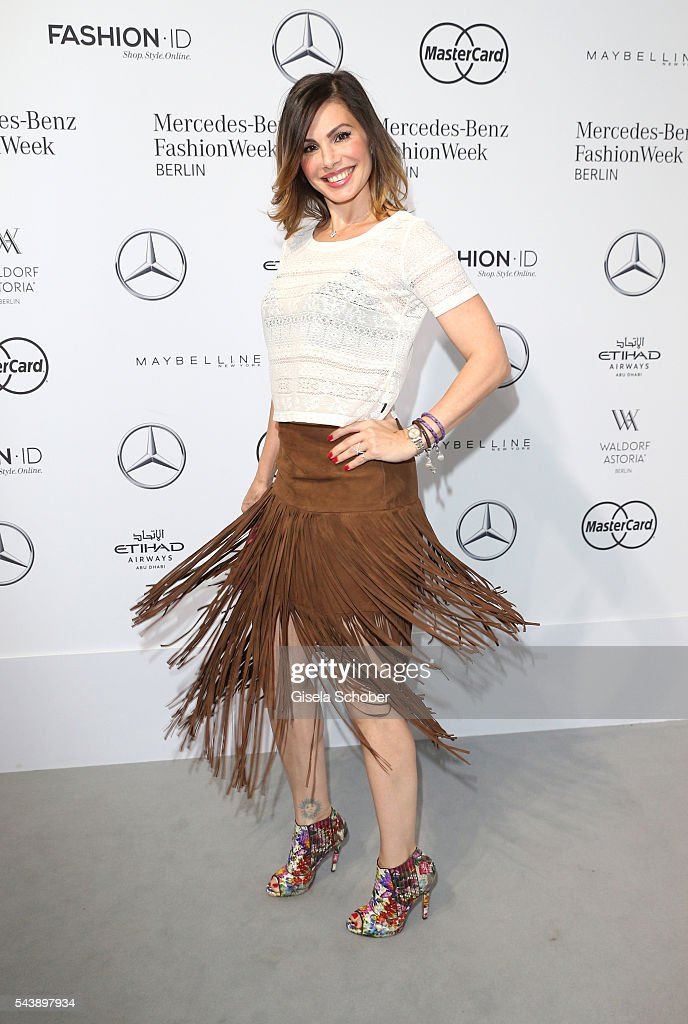 Dany Michalski during the Lena Hoschek show during the Mercedes-Benz Fashion Week Berlin Spring/Summer 2017 at Erika Hess Eisstadion on June 30, 2016 in Berlin, Germany.