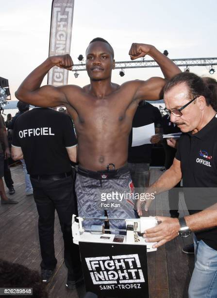 Danyo Ilunga attends the Fight Night Weighing Party at La Bouillabaisse Saint Tropez on August 3 2017 in SaintTropez France