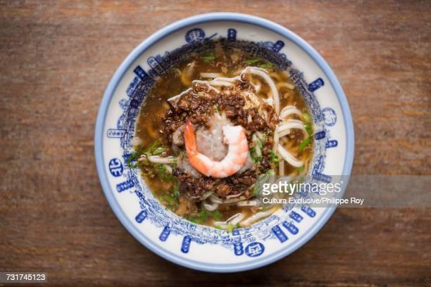 Danzai noodles with shrimp dish