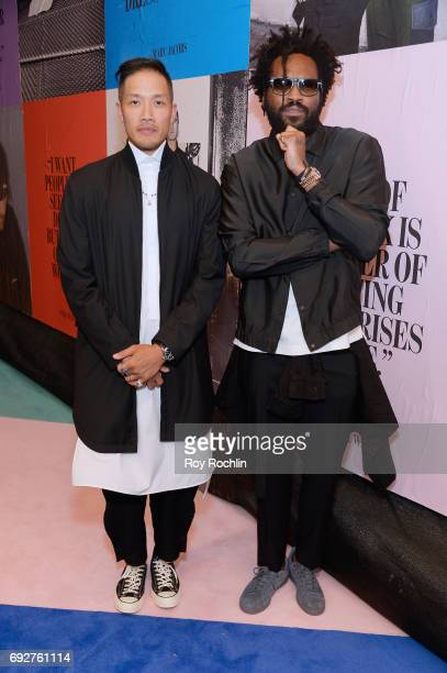 DaoYi Chow and Maxwell Osborne attend the 2017 CFDA Fashion Awards at Hammerstein Ballroom on June 5 2017 in New York City