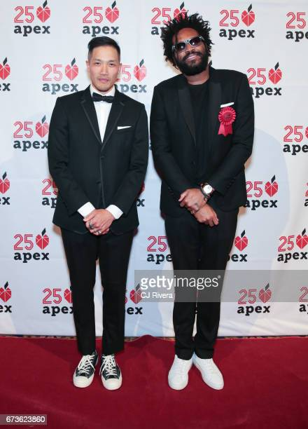 DaoYi Chow and Maxwell Osbourne attend the Apex for Youth's 2017 Inspiration Awards gala at Cipriani Wall Street on April 26 2017 in New York City