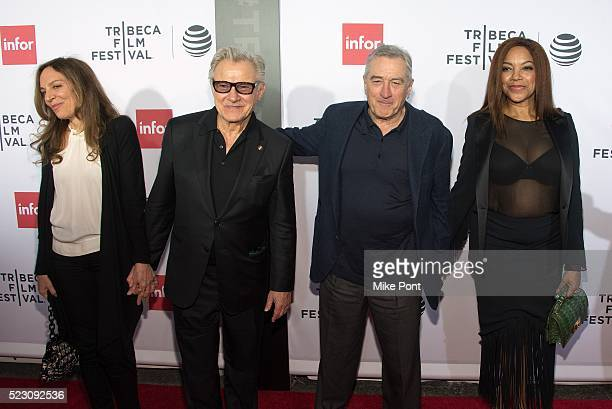 Daphna Kastner Harvey Keitel Robert De Niro and Grace Hightower attend the 'Taxi Driver' 40th Anniversary Screening during the 2016 Tribeca Film...